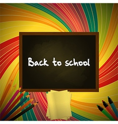 Back to school colorful background with blackboard vector