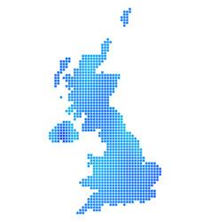 blue dot united kingdom map vector image