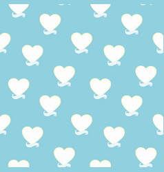 Blue pattern with heart and banner vector