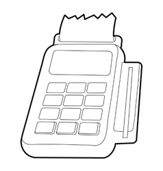 Card reader icon outline style vector