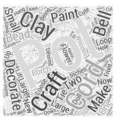 Clay Pot Crafts Word Cloud Concept vector