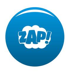 Comic boom zap icon blue vector