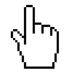 Computer cursor hand indicator sign vector