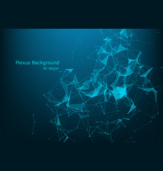 connected polygons plexus geometric background vector image