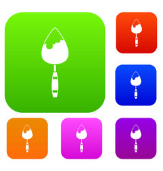 construction trowel set collection vector image