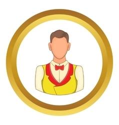 Croupier icon vector