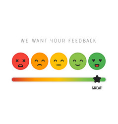 customer satisfaction concept design we want your vector image