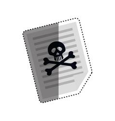 Dangerous sheet document vector