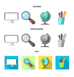 Design of education and learning icon set vector
