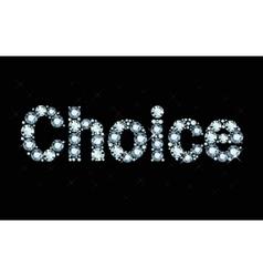 Diamond word choice vector