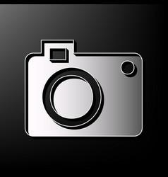 digital camera sign gray 3d printed icon vector image