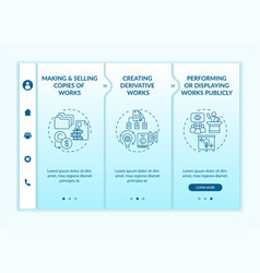 Distinctive author rights onboarding template vector