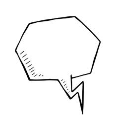 Doodle speech bubble art vector
