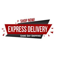 express delivery banner design vector image