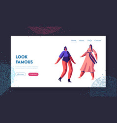 Fashion show event website landing page vector