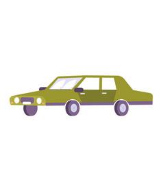 flat retro car vector image