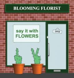 Florist icon vector