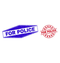 For police unclean watermarks in circle and vector