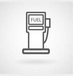 fuel station icon on white background vector image