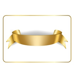 Gold satin ribbon on white 3 vector