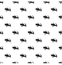 Grass cut truck pattern seamless vector