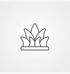Grass icon sign symbol vector