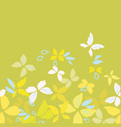 green border with yellow butterflies vector image