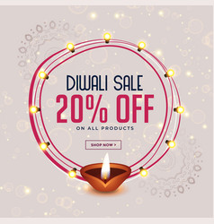 Happy diwali festival sale banner design vector