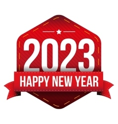 Happy New Year 2023 vector image