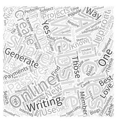 How to Generate Passive Income with Articles Word vector