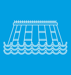 Hydroelectric icon outline style vector