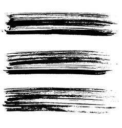 ink brush strokes vector image
