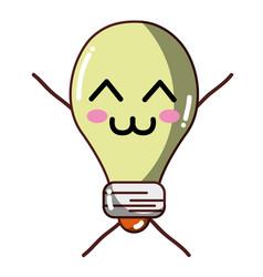 Kawaii cute tender bulb energy vector