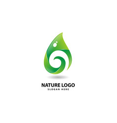 Leaf and nature icon logo design inspiration vector