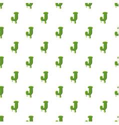 Letter j made of green slime vector
