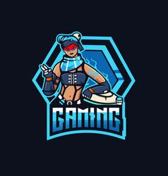 lifeline e-sport mascot logo design vector image