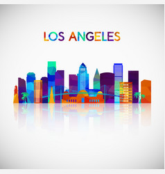 Los angeles skyline silhouette vector