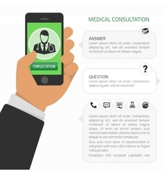 Medical consultation online vector image