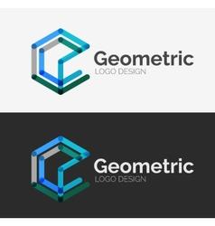 Minimal line design logo vector image