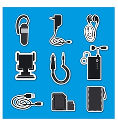 Mobile phone accessories devices vector