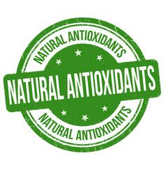Natural antioxidants grunge rubber stamp vector