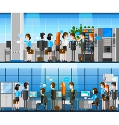 Office People Cartoon Composition vector image