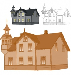 old family house vector image
