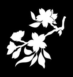 oriental cherry 3 vector image