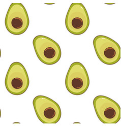 Pattern with green avocado vector