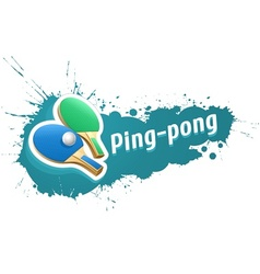 Ping-pong table tennis racket vector image