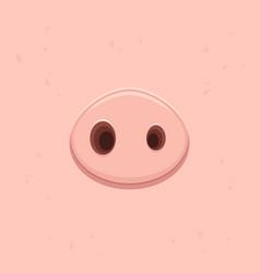 Pink pig nose vector