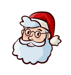 portrait of happy cute santa claus in hat vector image