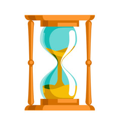 Sand hourglass time leak concept flat design vector