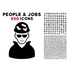 soldier icon with bonus vector image